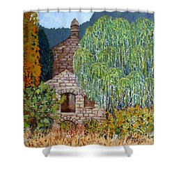 The Old Willow Tree Shower Curtain by Caroline Street