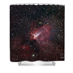 The Omega Nebula Shower Curtain by Filipe Alves
