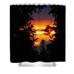 The Other Side Shower Curtain by Syed Aqueel