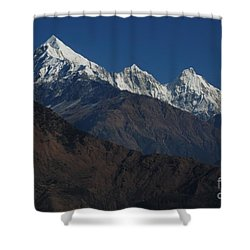 Shower Curtain featuring the photograph The Panchchuli Range by Fotosas Photography