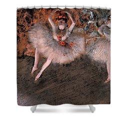 The Pas Battu Shower Curtain by Edgar Degas