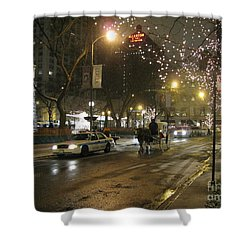 Shower Curtain featuring the photograph The Past Meets The Present In Chicago Il by Ausra Huntington nee Paulauskaite