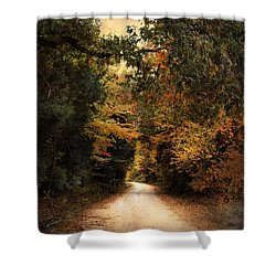 The Path Less Traveled Shower Curtain by Jai Johnson