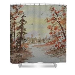 The Pathway Shower Curtain by Ginny Youngblood