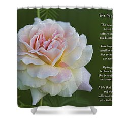 The Peace Rose Shower Curtain