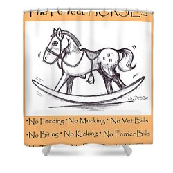 the Perfect Horse Shower Curtain by George Pedro
