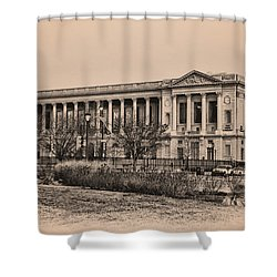 The Philadelphia Free Library Shower Curtain by Bill Cannon