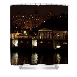 The Philadelphia Waterworks All Lit Up Shower Curtain by Bill Cannon