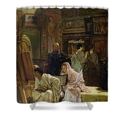 The Picture Gallery Shower Curtain by Sir Lawrence Alma-Tadema