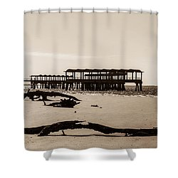 Shower Curtain featuring the photograph The Pier by Shannon Harrington