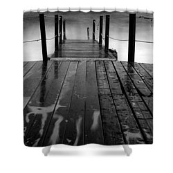 The Pier...protaras Shower Curtain by Stelios Kleanthous