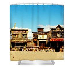 The Pioneer Hotel Old Tuscon Arizona Shower Curtain by Susanne Van Hulst