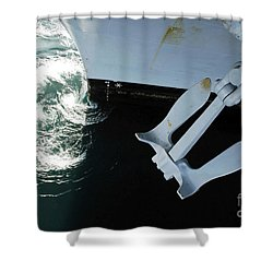 The Port Side Mark II Stockless Anchor Shower Curtain by Stocktrek Images