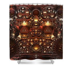 The Power And The Glory Shower Curtain by Lyle Hatch