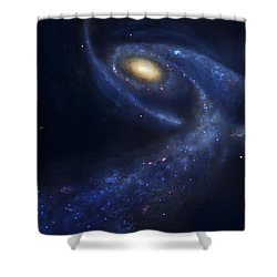 The Predicted Collision Shower Curtain by Fahad Sulehria