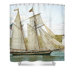 The Pride Of Baltimore In Halifax Shower Curtain by Verena Matthew