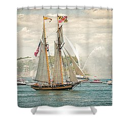 The Pride Of Baltimore Shower Curtain by Verena Matthew