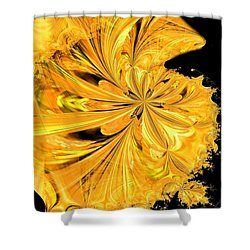 The Prince Is Having A Ball Shower Curtain by Maria Urso
