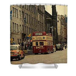 The Princes Street In Edinburgh. Scotland Shower Curtain by Jenny Rainbow