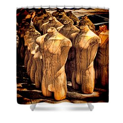 Shower Curtain featuring the photograph The Protest by Chris Lord