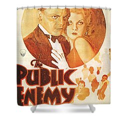 The Public Enemy Shower Curtain by Georgia Fowler