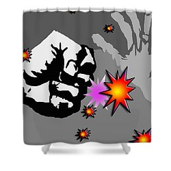 The Punch Shower Curtain
