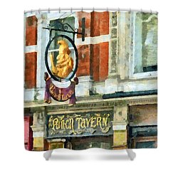 The Punch Tavern At 99 Fleet Street In London Shower Curtain by Steve Taylor