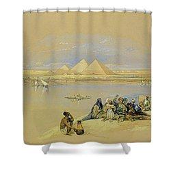 The Pyramids At Giza Near Cairo Shower Curtain by David Roberts