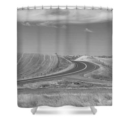 Shower Curtain featuring the photograph The Quiet Road by Kathleen Grace