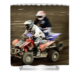 The Race To The Finish Line Shower Curtain by Karol Livote