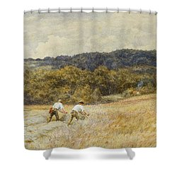 The Reapers Shower Curtain by Helen Allingham