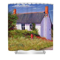 The Red Milk Churn Shower Curtain by Anthony Rule