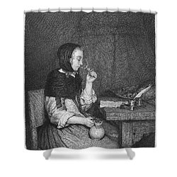 The Refreshment, 19th Cent Shower Curtain by Granger