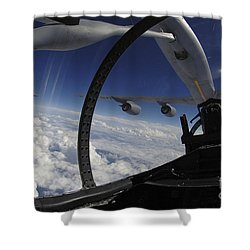 The Refueling Boom From A Kc-135 Shower Curtain by Stocktrek Images