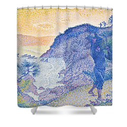 The Return Of The Fisherman Shower Curtain by Henri-Edmond Cross