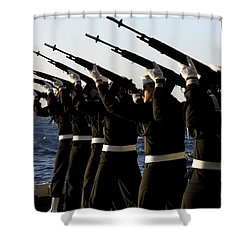 The Rifle Detail Aboard Shower Curtain by Stocktrek Images
