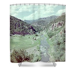 Shower Curtain featuring the photograph The River by Bonfire Photography