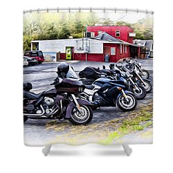 The Riverside Barr And Grill - Easton Pa Shower Curtain by Bill Cannon
