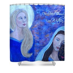 The Road Ahead Lies Within Shower Curtain by The Art With A Heart By Charlotte Phillips