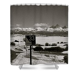 Shower Curtain featuring the photograph The Road Home by Eric Tressler