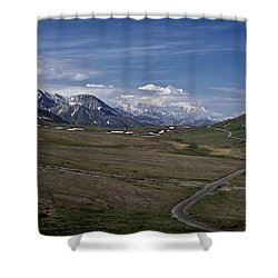 The Road To The Great One Shower Curtain by Wes and Dotty Weber