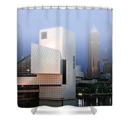 The Rock And Roll Hall Of Fame Shower Curtain