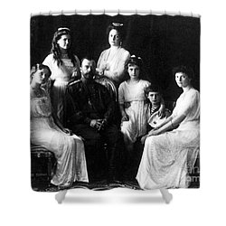 The Romanovs, Russian Tsar With Family Shower Curtain by Science Source
