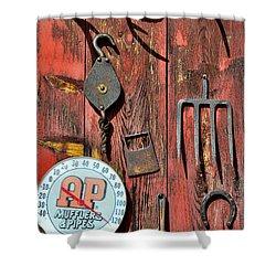 The Rusty Barn - Farm Art Shower Curtain by Paul Ward