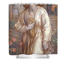 The Salutation  Shower Curtain by Dante Charles Gabriel Rossetti