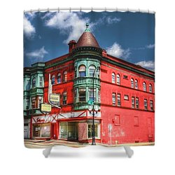 The Sauter Building Shower Curtain by Dan Stone