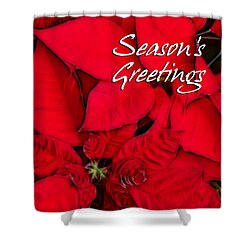 The Season's Velvet Touch Shower Curtain