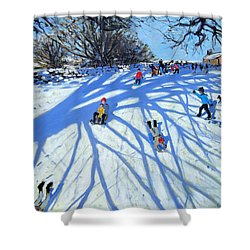 The Shadow Derbyshire Shower Curtain by Andrew Macara