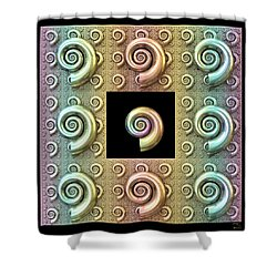 Shower Curtain featuring the digital art The Shell by Manny Lorenzo