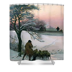 The Shepherd Shower Curtain by EF Brewtnall